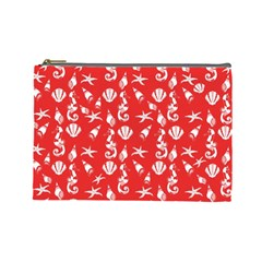 Seahorse pattern Cosmetic Bag (Large)