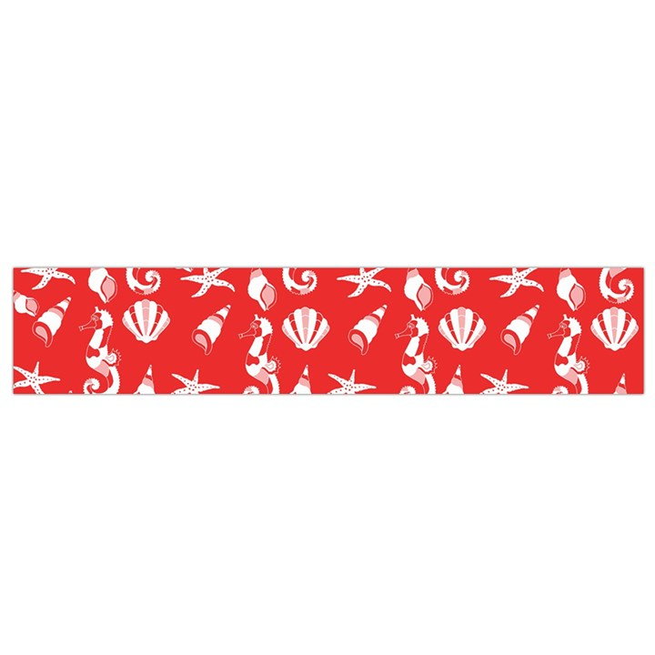 Seahorse pattern Flano Scarf (Small)
