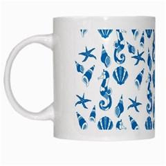 Seahorse pattern White Mugs