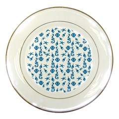 Seahorse pattern Porcelain Plates