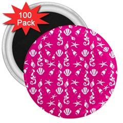 Seahorse pattern 3  Magnets (100 pack)