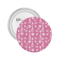 Seahorse pattern 2.25  Buttons