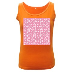 Seahorse pattern Women s Dark Tank Top