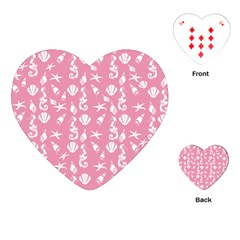 Seahorse pattern Playing Cards (Heart)