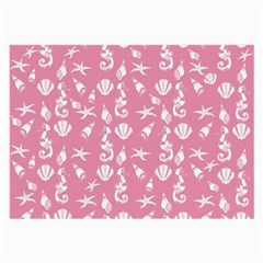 Seahorse pattern Large Glasses Cloth (2-Side)