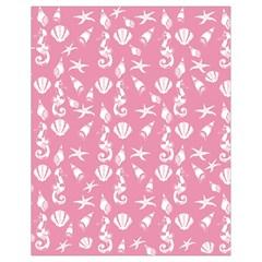 Seahorse pattern Drawstring Bag (Small)