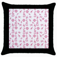 Seahorse pattern Throw Pillow Case (Black)