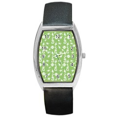 Seahorse pattern Barrel Style Metal Watch