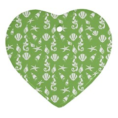 Seahorse pattern Heart Ornament (Two Sides)