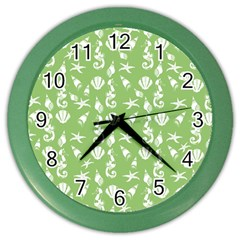 Seahorse pattern Color Wall Clocks