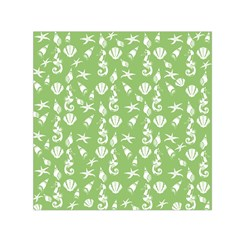 Seahorse pattern Small Satin Scarf (Square)