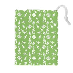 Seahorse Pattern Drawstring Pouches (extra Large)