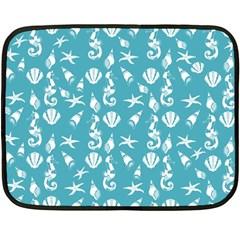 Seahorse pattern Double Sided Fleece Blanket (Mini)