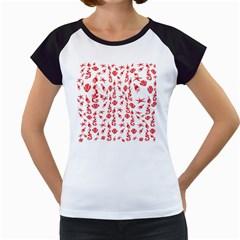Seahorse pattern Women s Cap Sleeve T
