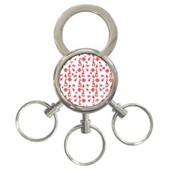 Seahorse pattern 3-Ring Key Chains