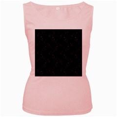 Seahorse pattern Women s Pink Tank Top