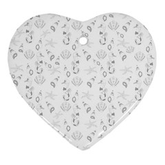 Seahorse pattern Ornament (Heart)