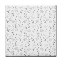 Seahorse pattern Face Towel