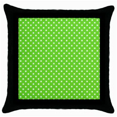Polka dots Throw Pillow Case (Black)