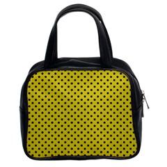 Polka dots Classic Handbags (2 Sides)