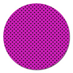 Polka dots Magnet 5  (Round)