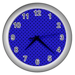 Polka dots Wall Clocks (Silver)