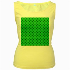 Polka dots Women s Yellow Tank Top