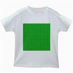 Polka dots Kids White T-Shirts