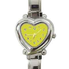 Polka dots Heart Italian Charm Watch