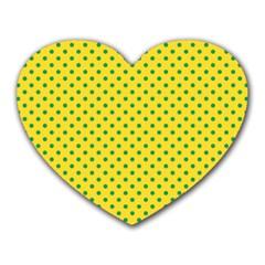 Polka dots Heart Mousepads
