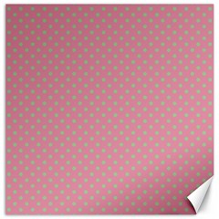Polka dots Canvas 12  x 12