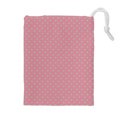Polka dots Drawstring Pouches (Extra Large)