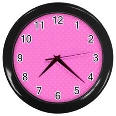 Polka dots Wall Clocks (Black)