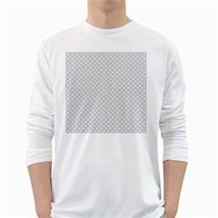 Polka dots White Long Sleeve T-Shirts