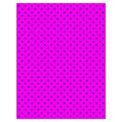 Polka dots Drawstring Bag (Large)