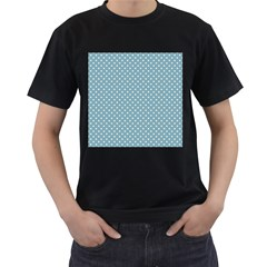 Polka dots Men s T-Shirt (Black) (Two Sided)