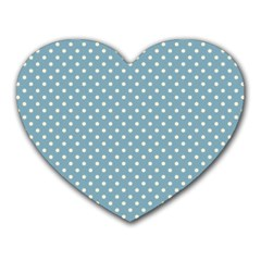 Polka dots Heart Mousepads