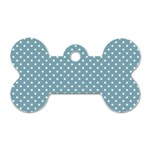 Polka dots Dog Tag Bone (One Side) Front