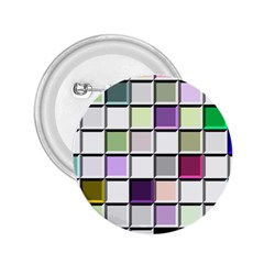 Color Tiles Abstract Mosaic Background 2.25  Buttons
