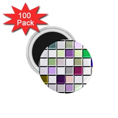 Color Tiles Abstract Mosaic Background 1.75  Magnets (100 pack)