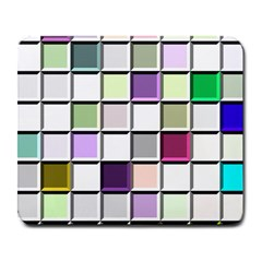 Color Tiles Abstract Mosaic Background Large Mousepads