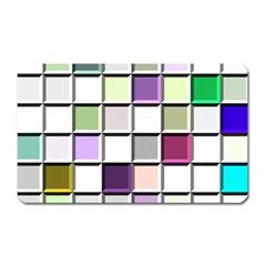 Color Tiles Abstract Mosaic Background Magnet (Rectangular)