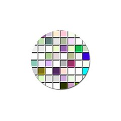 Color Tiles Abstract Mosaic Background Golf Ball Marker