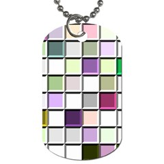 Color Tiles Abstract Mosaic Background Dog Tag (two Sides)