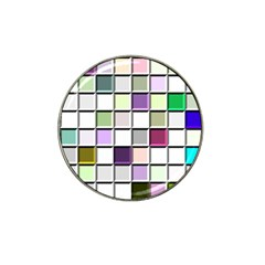 Color Tiles Abstract Mosaic Background Hat Clip Ball Marker (10 pack)