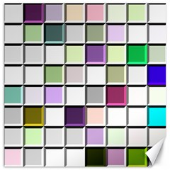 Color Tiles Abstract Mosaic Background Canvas 16  X 16