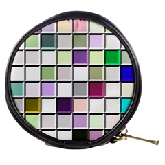 Color Tiles Abstract Mosaic Background Mini Makeup Bags