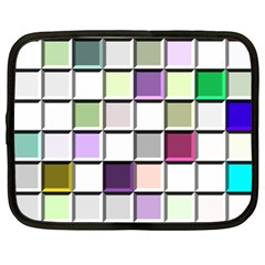 Color Tiles Abstract Mosaic Background Netbook Case (xxl)