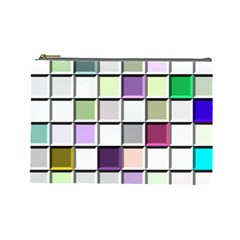 Color Tiles Abstract Mosaic Background Cosmetic Bag (large)