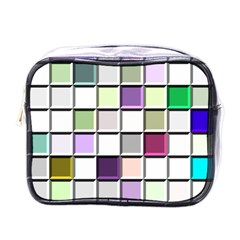 Color Tiles Abstract Mosaic Background Mini Toiletries Bags